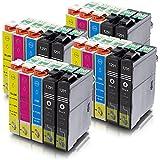 ms-point® 20 kompatible Druckerpatronen für Epson Stylus Office B42 WD BX305 F BX305FW BX305 FW Plus BX320 FW BX525 WD BX 535 WD BX625 FWD BX630 FW BX635 FWD BX925 FWD BX935 FWD SX230 SX235 SX235 W SX420 W SX425 W SX430 W SX435 W SX438 W SX440 W SX445 W SX525 WD SX535 WD SX620 FW Workforce 525 630 WF3010 DW WF3520 DWF WF3530 DTWF WF3540 DTWF WF7015 WF7515 WF7525 ersetzt T1291 T1292 T1293 T1294