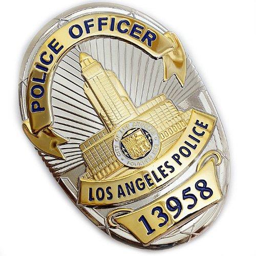 LAPD ロサンゼルス警察 Police Officer 警察官 ポリスレプリカバッジ フルサイズ