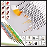Wall of Dragon Gel Design Nail Art Pen Painting Brush Set for Salon Manicure Tips Tool (Color: Multicolor)