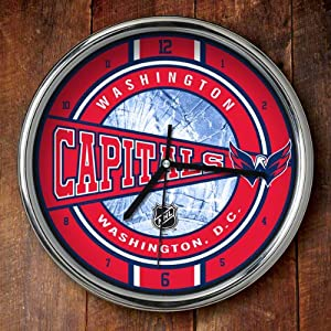 Washington Capitals Chrome Wall Clock