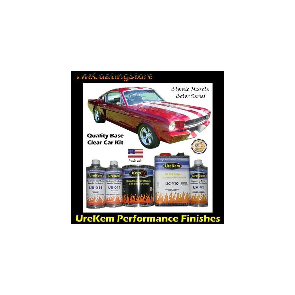 Classic Candy Apple Red Car Paint Basecoat Clearcoat Auto