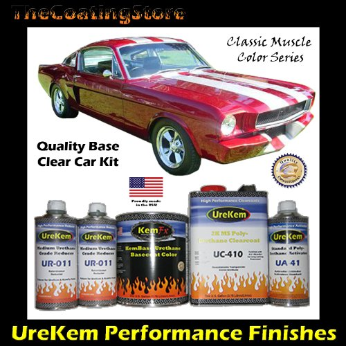 Classic Candy Apple Red Car Paint Basecoat Clearcoat Auto Paint Kit