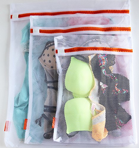 Delicates LARGE Set of 3 Laundry Washing Bags, Premium Quality: Lingerie Bags for Laundry, Garment, Blouse, Hosiery, Stocking, Underwear, Bra & Lingerie and for More Washing Bag Set (Delicate Garment Bag compare prices)