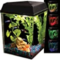KollerCraft API Aquaview Corner Aquarium Kit with LED Lighting and Internal Power Filter, 2-1/2 Gallons
