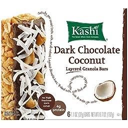 Kashi Fruit & Grain Bar, Dark Chocolate Coconut, Layered Granola, 1.1 oz Bars,  6 Count,  (Pack of 6)