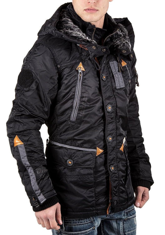 KHUJO Herren Winterjacke Bristol schwarz günstig kaufen