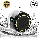 Bluetooth Shower Speaker ® - Best Waterproof Speakers, Fully submersible & Portable Design ~ Lifetime Guarantee ~ Play Wireless Music with Crisp Audio & Deep Bass - Compatible with all Cell Phone & Bluetooth Devices with Built-in Mic for Speakerphone