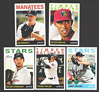2013 Topps Heritage Minors - MILWAUKEE BREWERS Team Set