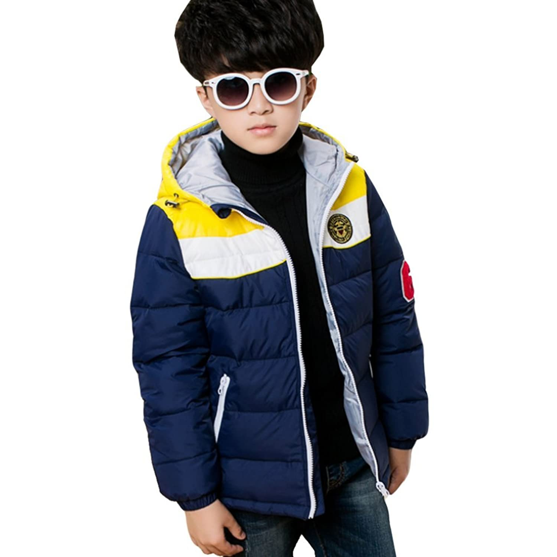 iikids Daunenjacke Kinder Jungen Winterjacke mit Kapuze Verdickung Jacket Wintermantel Mantel Parka Outerwear Oberbekleidung Winter Kleidung online bestellen
