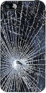 Snoogg Broken Screen Designer Protective Back Case Cover Forapple Iphone 4 / 4S