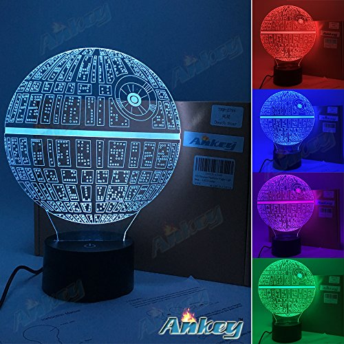 Death Star 3D Illusion Night Light