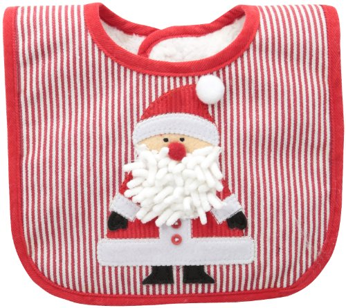 Mud Pie Baby-Boys Newborn Santa Bib, Multi, 0-12 Months back-574400