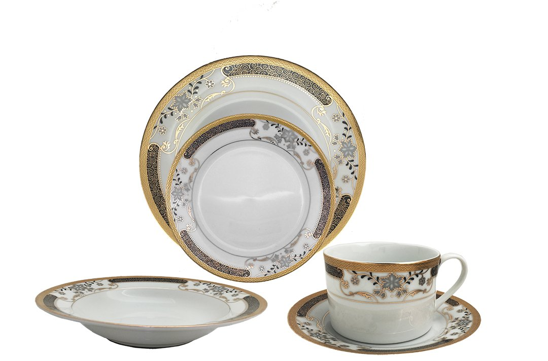 16 piece christmas porcelain dinnerware set