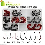 Easy Catch ® 160pcs/box 7381 Strong Offset Octopus Fishing Hook Sport Circle Hooks High Carbon Steel Fishing Hooks