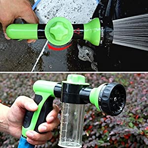 Buyplus [Upgraded 2018] High Pressure Garden Hose Foam Nozzle - Snow Soap Car Washer Water Sprayer Gun Kit with Scrubbing Mitt, Cleaning Cannon, 8 adj
