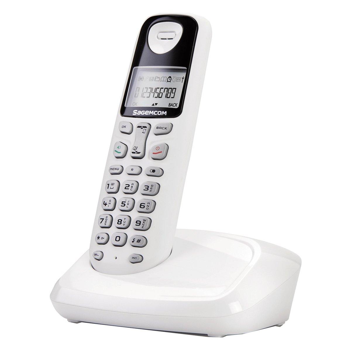 T�l�phone fixe SAGEM D17T BLANC SOLO SANS REPONDEUR
