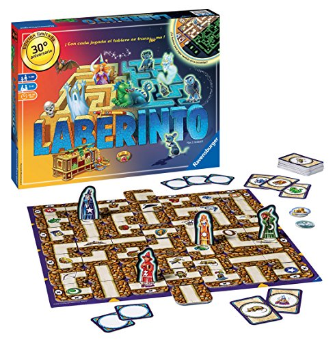 Ravensburger - Family Games Glow in the Dark Laberinto Aniversario, juego de mesa (26696)