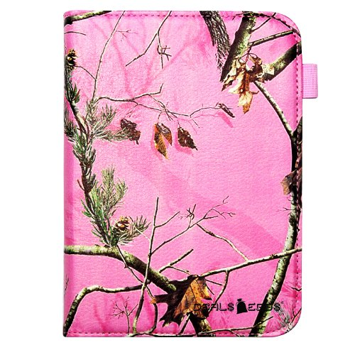 Best Price Kindle Fire 7 (2012) / Kindle Fire HD 7 (2012) Pink Real Camo Camouflage Mossy Tree Pu ...
