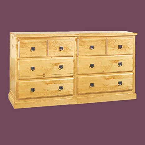 Dressers UnFinised Pine Strafford Double Dresser Kit