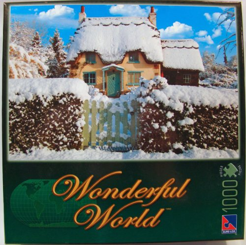 Wonderful World 1000 Piece Jigsaw Puzzle: Thatched Cottage
