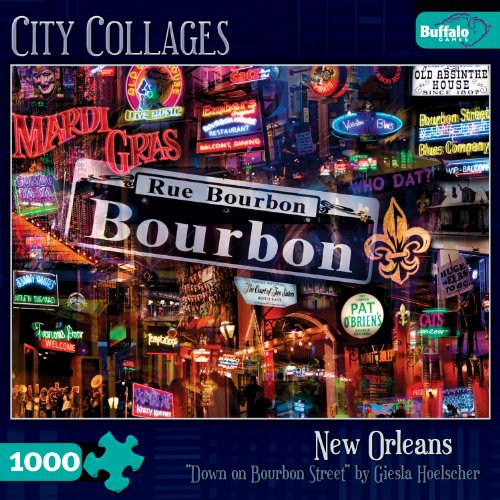 Buffalo Games City Collage, Down on Bourbon Street - 1000pc Jigsaw Puzzle