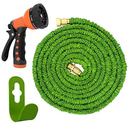 Magic vidar expandable garden hose water hose no kink 50 for Never kink garden hose