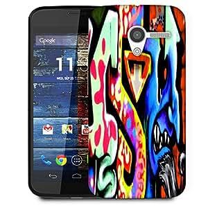 Snoogg Blue Jeeni Designer Protective Phone Back Case Cover For Moto X / Motorola X