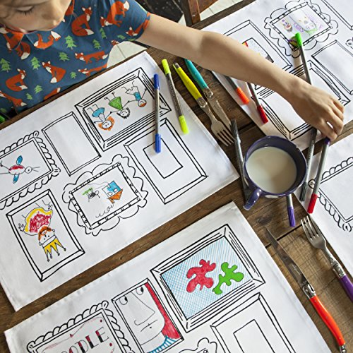 4-fun-tovagliette-di-doodle-per-personalizzare-pulizia-e-luso-di-nuovo-sbiaditura-penne-incluso-dise