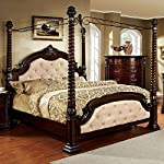 247SHOPATHOME IDF-7296LA-Q-C Bed-Frames, Queen, Dark Walnut