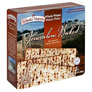 Yehuda Matzo Thins, Whole Wheat, 6-Count Boxes (Pack of 3)