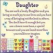 Heartwarmers Daughter Square Fridge Magnet - Gift Idea