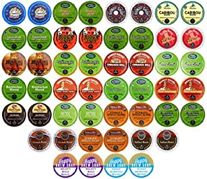 50-count TOP BRAND COFFEE K-Cup Variety Sampler Pack, Single-Serve Cups for Keurig Brewers 23.9OZ (678g)