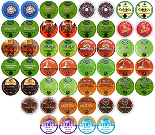 Get 50 Count Top Brand Coffee K Cup Variety Sampler Pack
