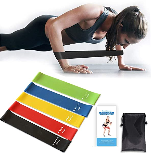 Training Exercise Resistance Loop Bands Home Gym Workout   Natural Premium Latex