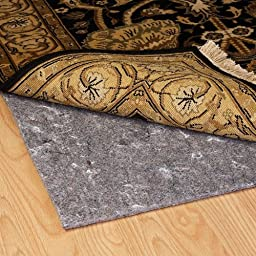 Duo-Lock Reversible Felt and Rubber Non-Slip Rug Pad, Size: 3\' x 5\' Rug Pad