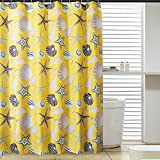 D-Home Printedn Yellow Sea-star Pattern ,Bathroom Mildew Proof Polyester Fabric 72inchx78inch/180cmx200cm(w*h) Shower Curtain.