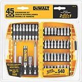Set de  Atornilladores 45 piezas  DEWALT DW2166