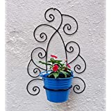 Green Gardenia Iron Wall Bracket With Bucket -Light Blue