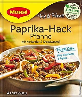 Maggi fix und frisch für Paprika Hack Pfanne, 18er Pack (18 x 44 g) von Maggi - Gewürze Shop
