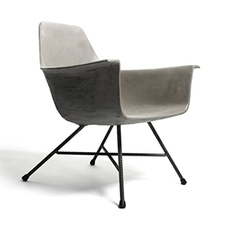 Fauteuil bas design béton Hauteville - Couleur - Gris béton