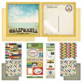 Scrapbook Customs Themed Paper and Stickers Scrapbook Kit, California Vintage