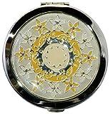 コンパクトミラー誕生花シリーズ「F」 十一月 ミカンの花(銀色) BI-11-S 30597