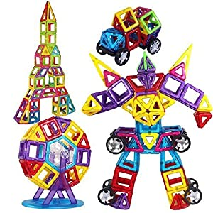 DBPOWER 76 PCS Magnetic Building Blocks Magnetic Toys, Educational Construction Stacking Sets