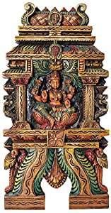 Exotic India Exotic India Goddess Lakshmi South Indian Temple Wood Carving