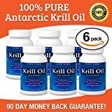 Viva Labs Krill Oil: 100% Pure Cold Pressed Antarctic Krill Oil - Highest Levels of Omega-3s in the Industry, 1250 Mg/serving, 360 Capliques