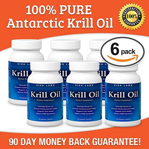 Viva labs krill oil 100 pure cold pressed antarctic for Viva fish oil