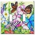 Art Plates - Garden Butterflies Switch Plate - Double Toggle