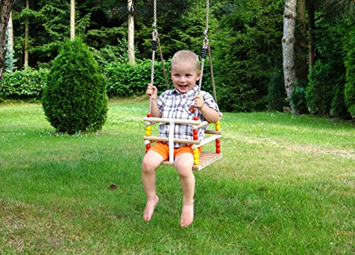Greta the Fox Wooden Swing – Infant to Toddler