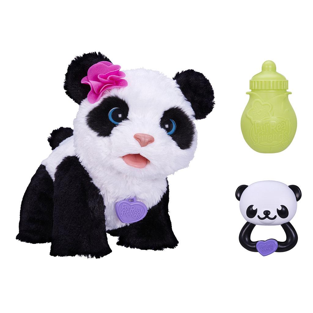 New furreal friends pom pom my baby panda interactive toy for Amazon com pillow pets