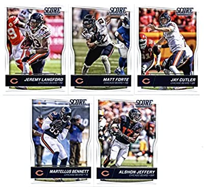 2016 Score Chicago Bears Veterans Team Set of 10 Football Cards: Jay Cutler(#54), Matt Forte(#55), Jeremy Langford(#56), Alshon Jeffery(#57), Martellus Bennett(#58), Kevin White(#59), Marquess Wilson(#60), Eddie Royal(#61), Lamarr Houston(#62), Pernell Mc